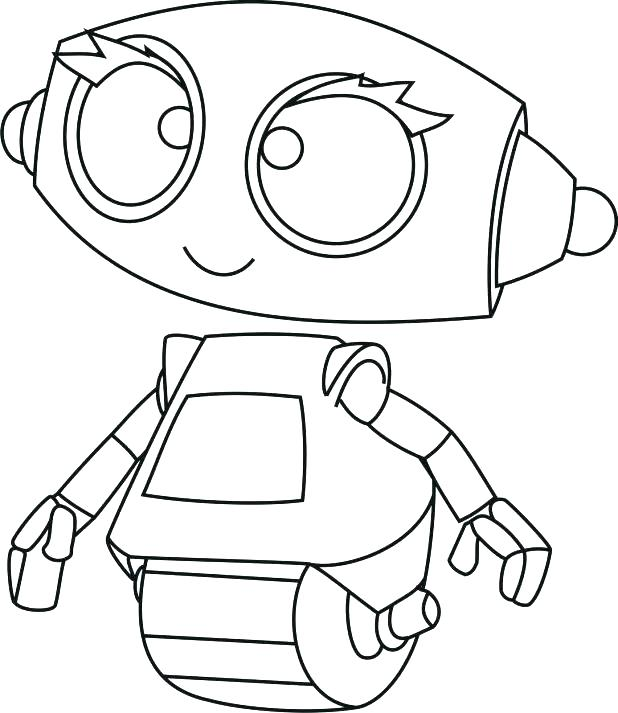 618x713 Robot Coloring Pages