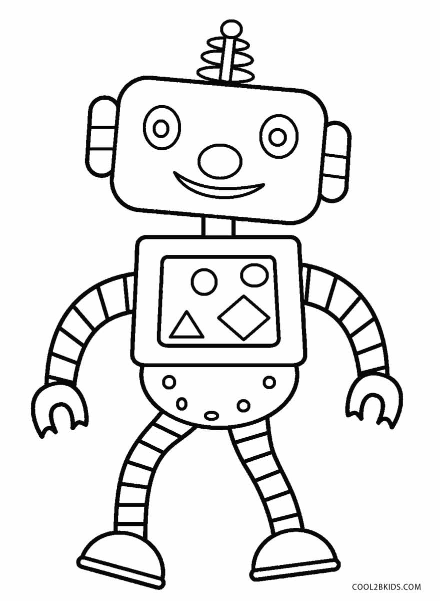 880x1200 Free Printable Robot Coloring Pages For Kids