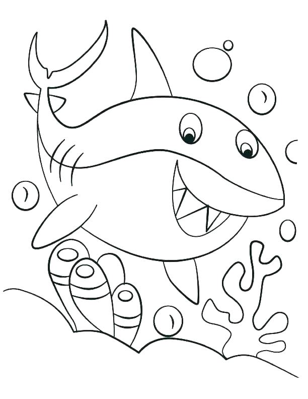 612x792 Shark Tale Coloring Pages Shark Coloring Pages Good Shark Coloring