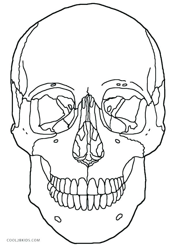 618x856 Red Skull Coloring Pages Skull Outline Coloring Book Outline Page