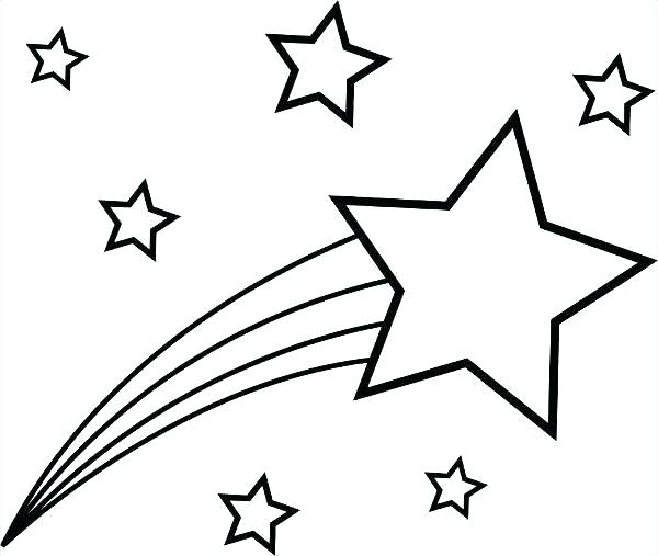 600x507 Constellation Coloring Pages Coloring Pages Star Shooting Star