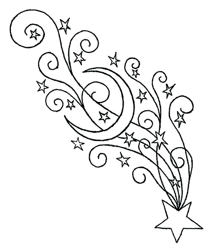 736x852 Outstanding Shooting Stars Coloring Pages Shooting Star Coloring