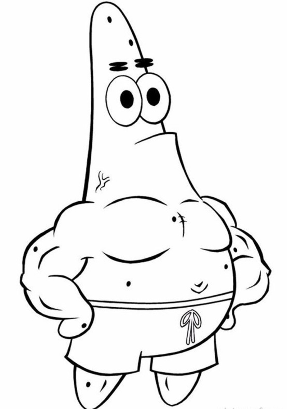 924x1316 Patrick Star Coloring Pages Spectacular Spongebob With For Fancy