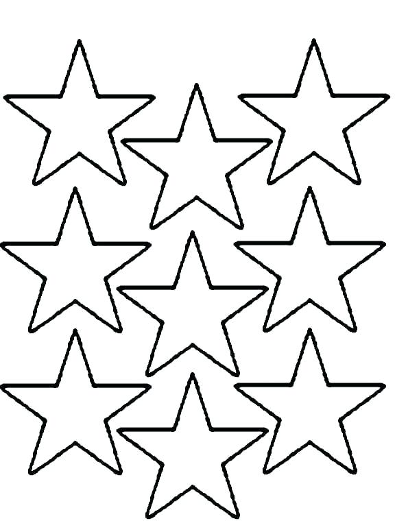576x760 Stars Coloring Page