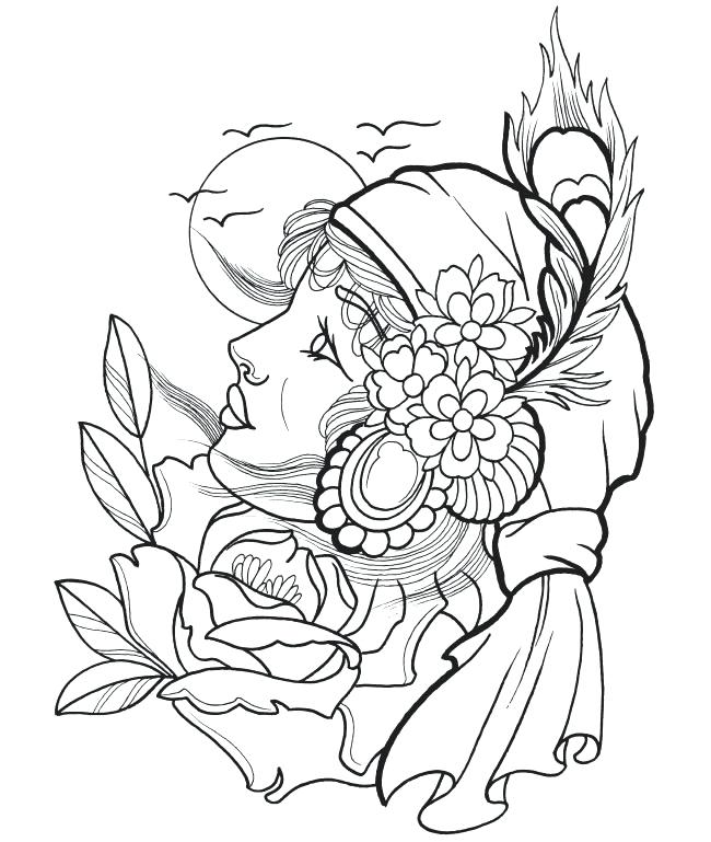 650x769 Free Tattoo Coloring Pages Tattoo Coloring Pages More Images