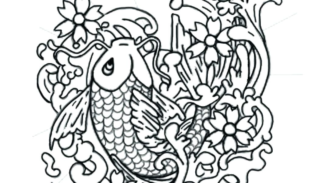 1024x600 Tattoos Coloring Pages Tattoo Coloring Pages Fish Tattoo Coloring