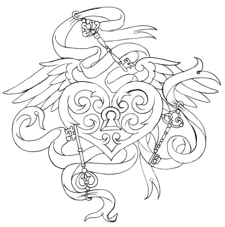 736x745 Tattoo Coloring Pages Printable