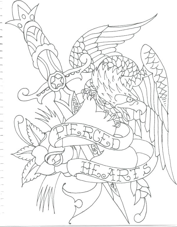 600x771 Tattoo Coloring Pages