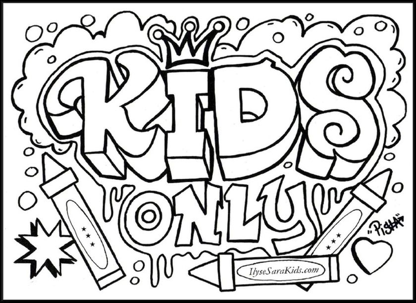840x612 Cool Teenage Coloring Pages Printable For Teens Kids
