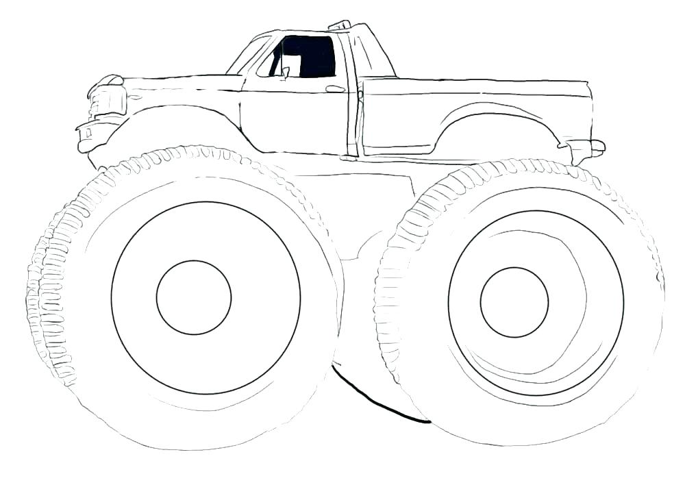 1000x708 Monster Truck Coloring Page Coloring Monster Printable Monster