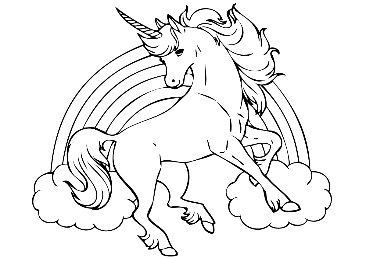 Cool Unicorn Coloring Pages at GetDrawings.com | Free for ...