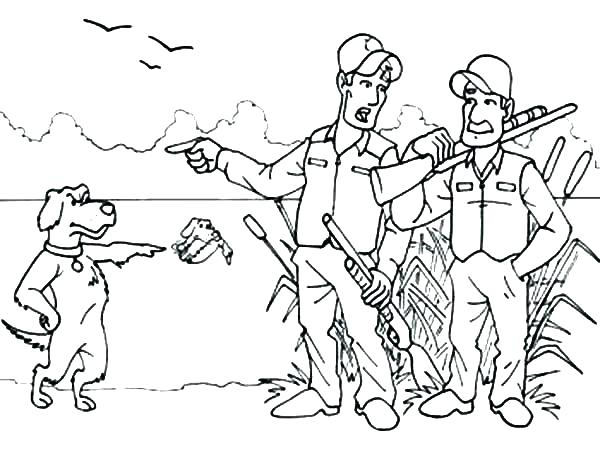 600x463 Deer Hunting Coloring Pages Hunting Coloring Pages Dog Hunting