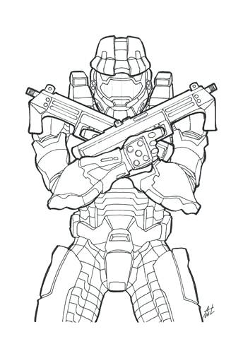 344x480 Master Chief Coloring Pages Halo Master Chief Coloring Pages Halo
