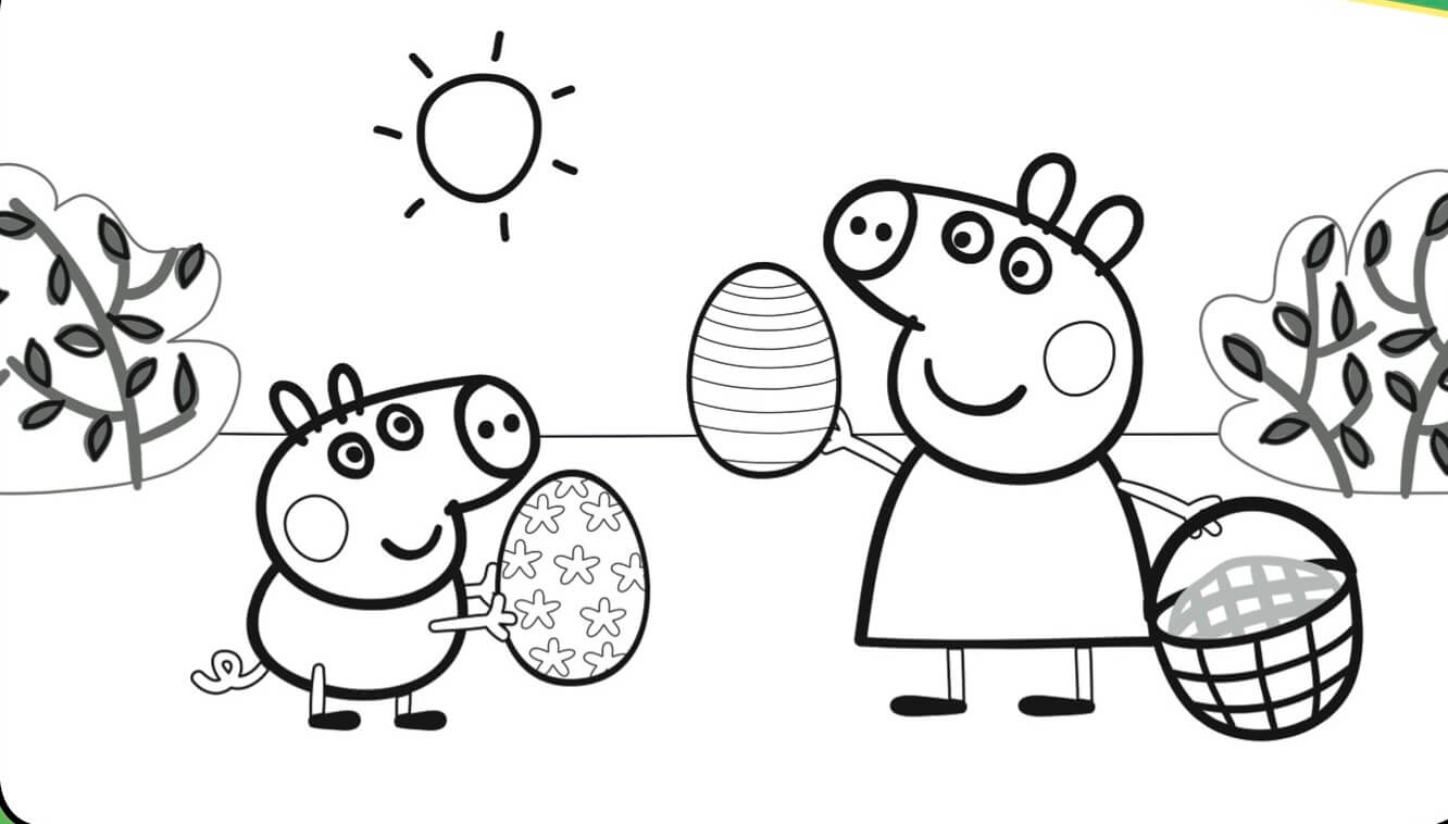 1332x758 Printable Peppa Pig Coloring Pages You Won't Find Anywhere