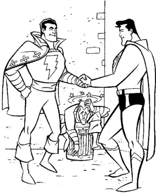 500x619 Robin And Superman Coloring Pages Kids Coloring Pages