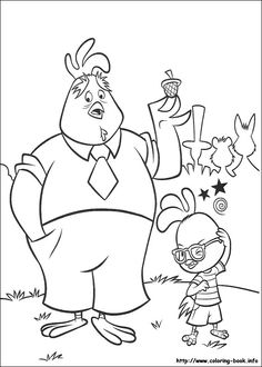 236x330 Chicken And Friends Cooperation Coloring Page