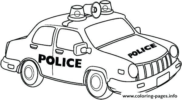 600x329 Coloring Pages Of Police Cars Police Cars Coloring Pages Police