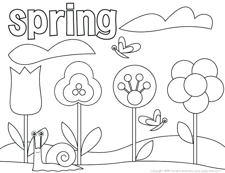 736x568 Springtime Coloring Sheets Spring Free Coloring Pages Spring Photo