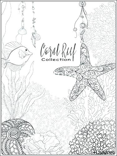 376x500 Great Barrier Reef Coloring Pages Coral Reef Coloring Pages Coral