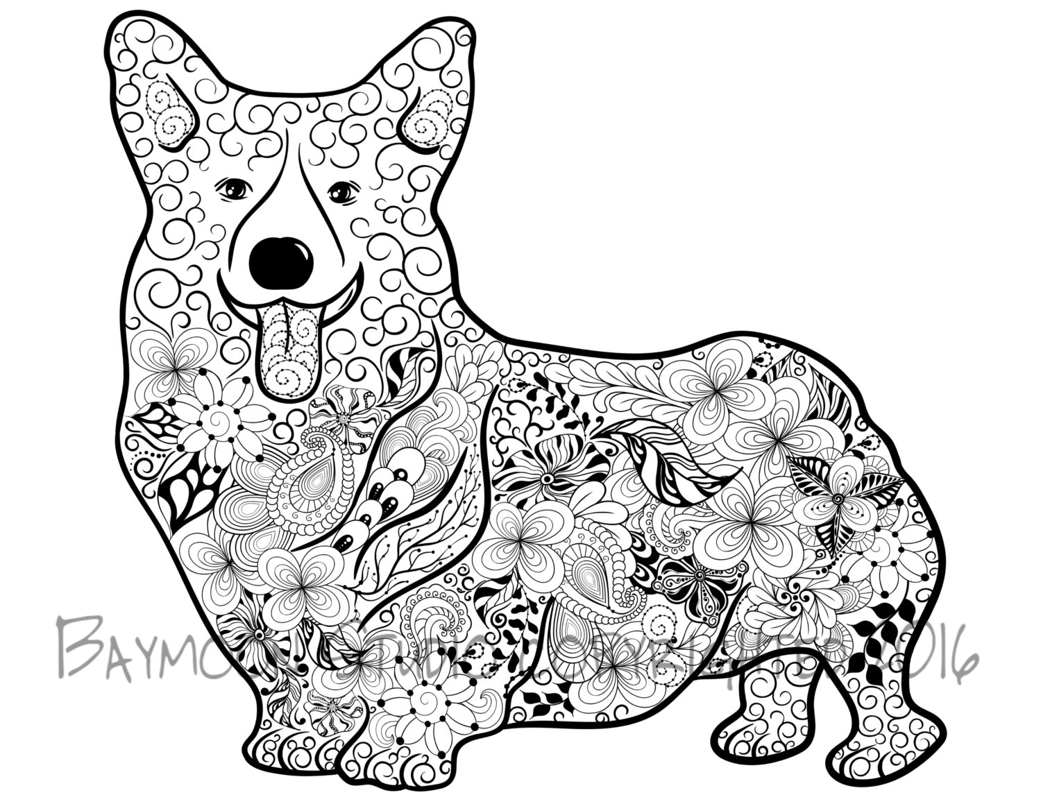 1500x1159 Corgi Coloring Pages Images Free Coloring Pages