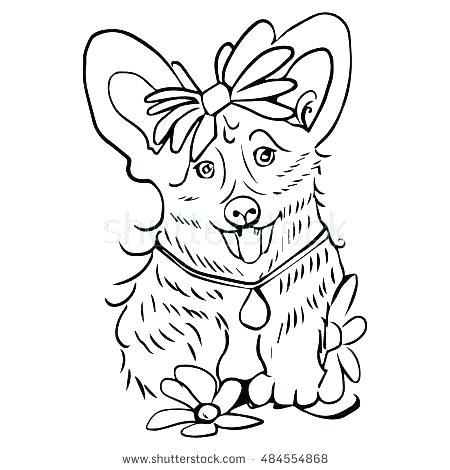 450x470 Corgi Coloring Pages Puppy Dog Coloring Pages Corgi Coloring Pages
