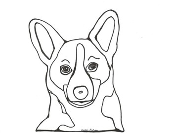 350x270 Corgi Coloring Sheets