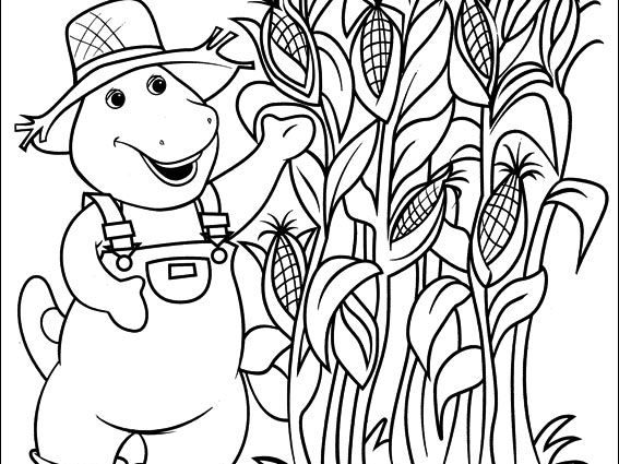 567x425 Exelent Cornfield Coloring Page Picture Collection