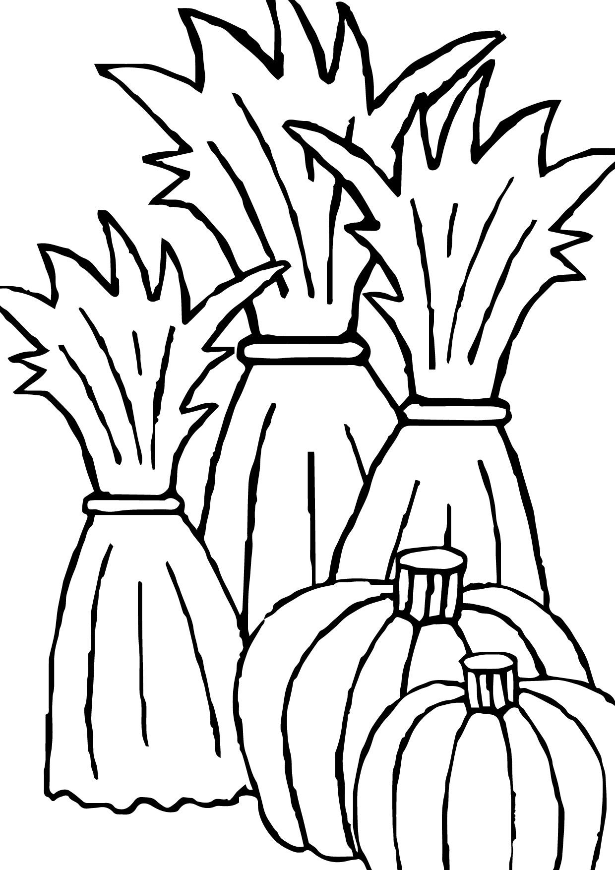 1240x1754 Awesome Corn Stalk Coloring Page Coloring