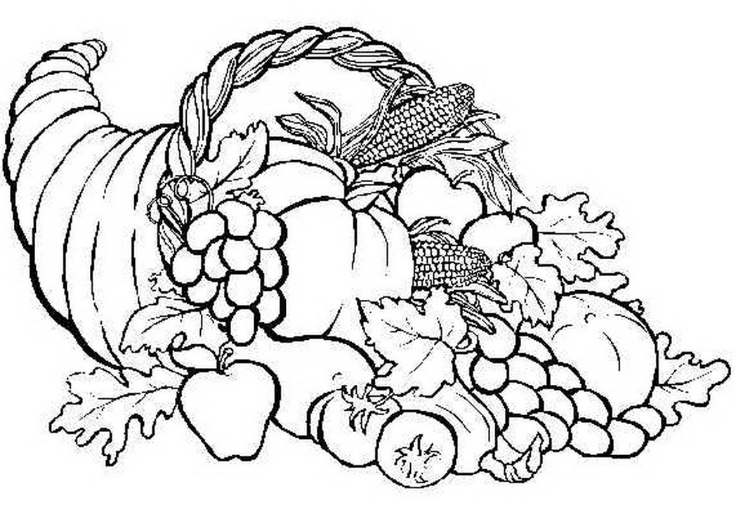 Cornucopia Coloring Pages Printable At Getdrawings Com Free For