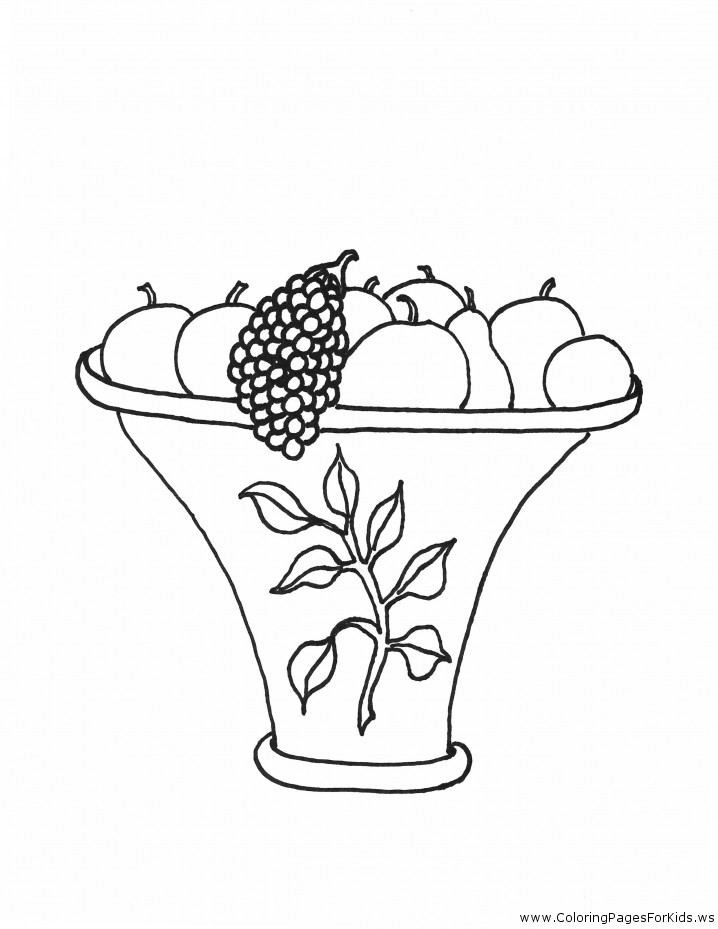 Cornucopia Fruit Coloring Pages