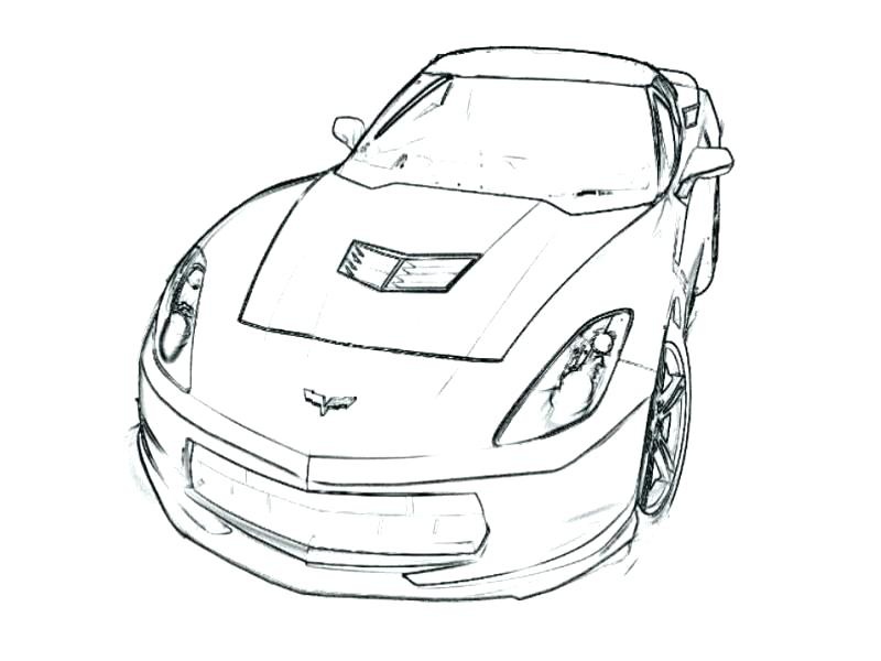 Corvette Coloring Pages Printable at GetDrawings.com | Free for ...