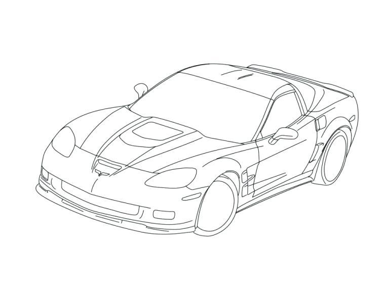 768x576 Corvette Coloring Pages Corvette Coloring Pages Fresh Fantastic