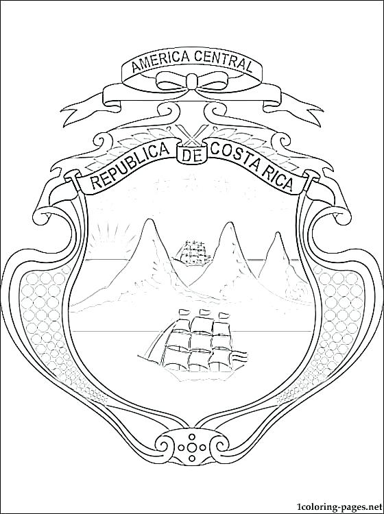 560x750 Costa Rica Flag Coloring Page Flag Of Coloring Page Flag Coloring