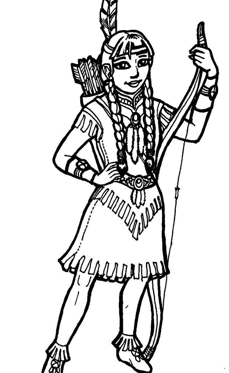 736x1200 Indian Costume Colouring Pages Staggering Coloring Page
