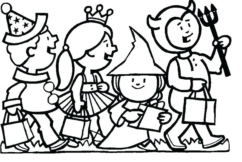 800x535 Coloring Page Halloween Printable Costumes Coloring Pages On Free
