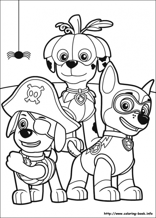 521x730 Paw Patrol Puppies In Halloween Costume Coloring Page Nick Jr