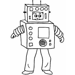 300x300 Robot Costume Coloring Page