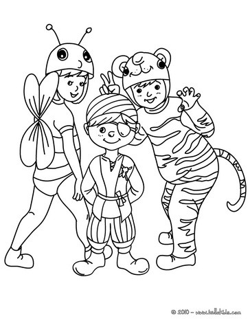 364x470 Superhero Carnival Costume Coloring Pages