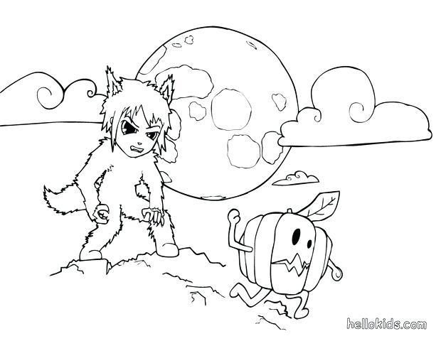 620x480 Werewolf Coloring Pages Werewolf Wearing Werewolf Costume Coloring