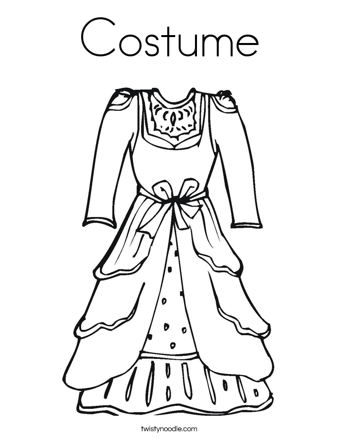 685x886 Costume Coloring Page