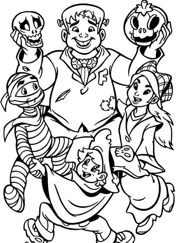 570x783 Halloween Costumes Coloring Pages Halloween Coloring Pages