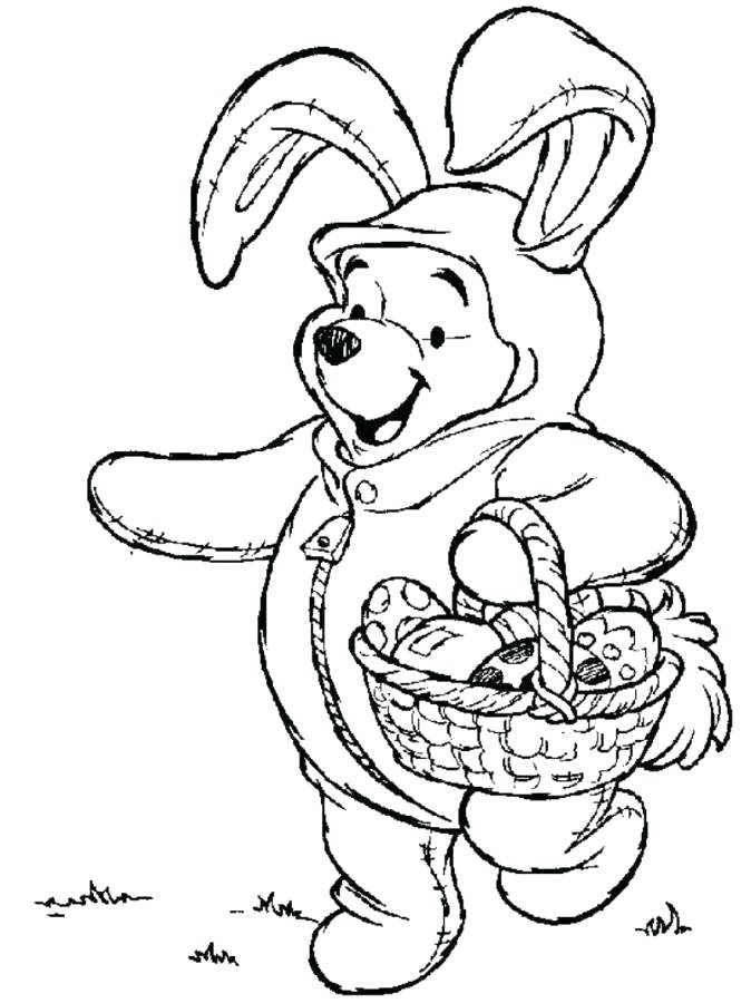 674x900 Disney Easter Coloring Pages The Pooh On Bunny Costume Coloring