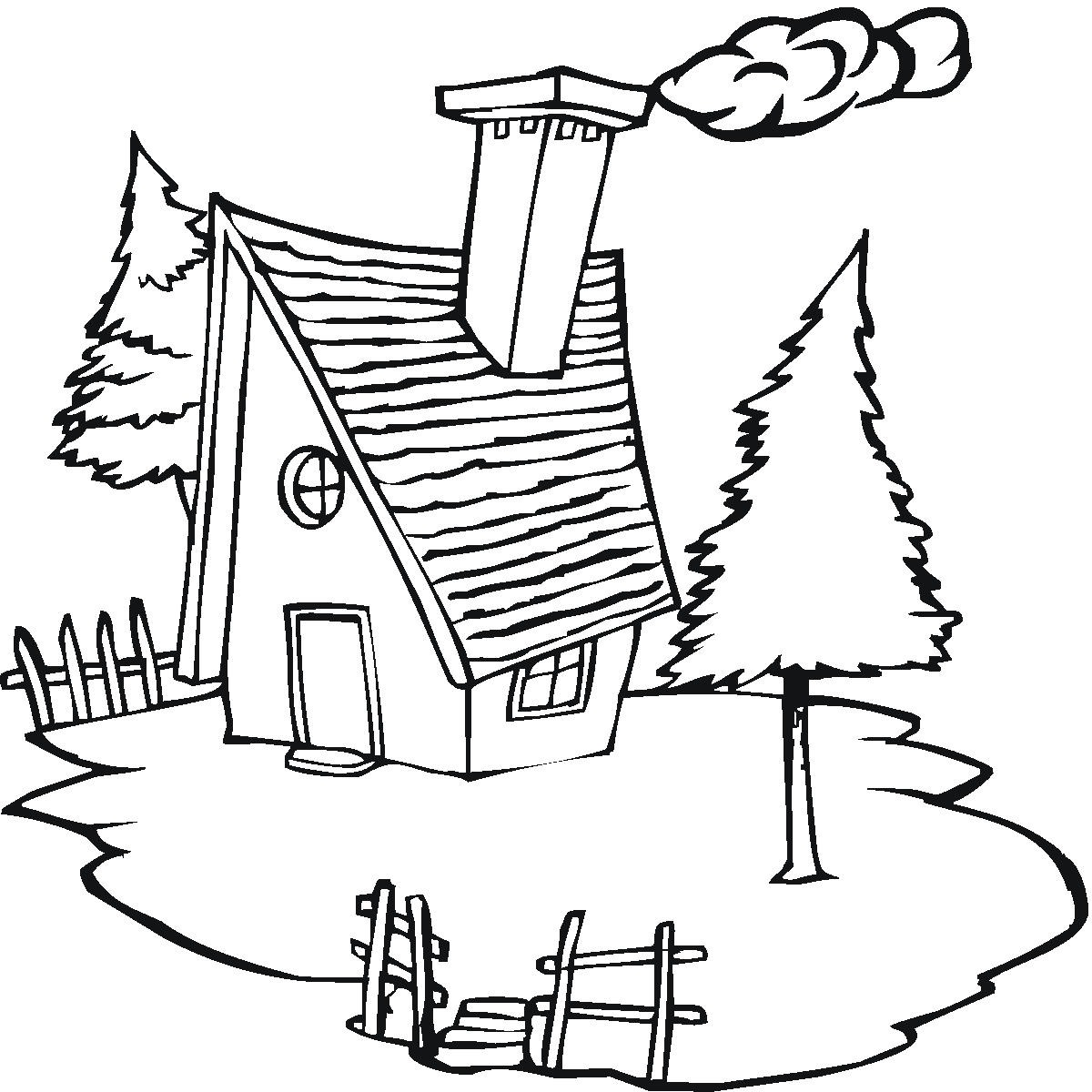 1200x1200 Cottage Coloring Pages