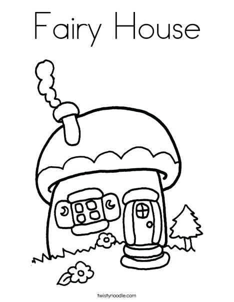 468x605 Fairy House Coloring Pages Mushroom Cottage Coloring Page