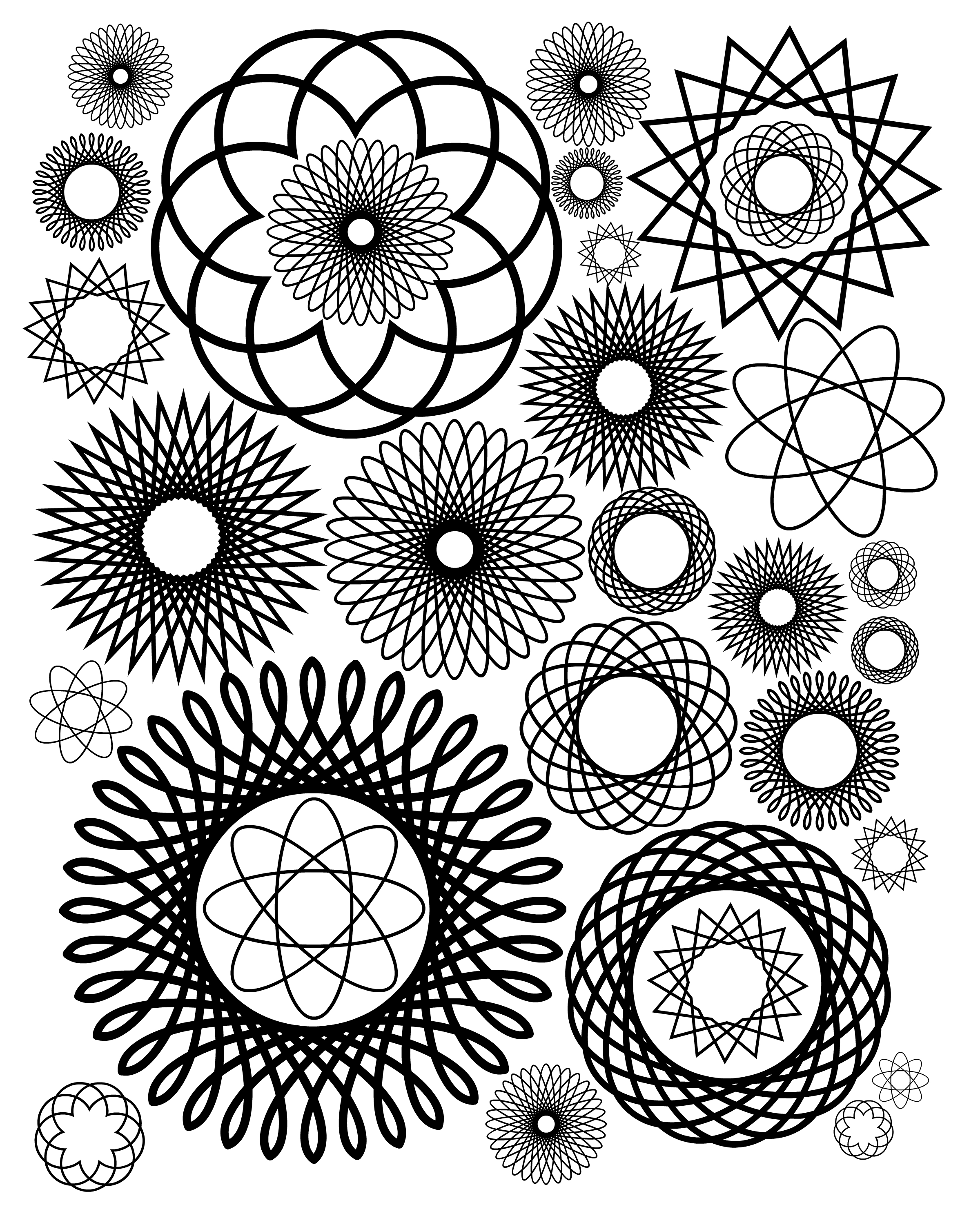 2400x3000 Free Coloring Pages For Adults
