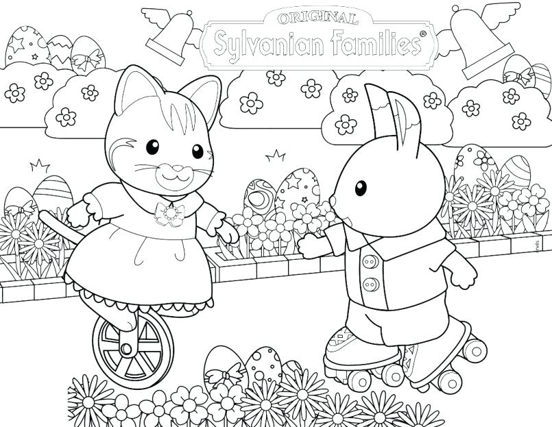 805x623 Garden Critters Coloring Page Calico Critters Coloring Pages