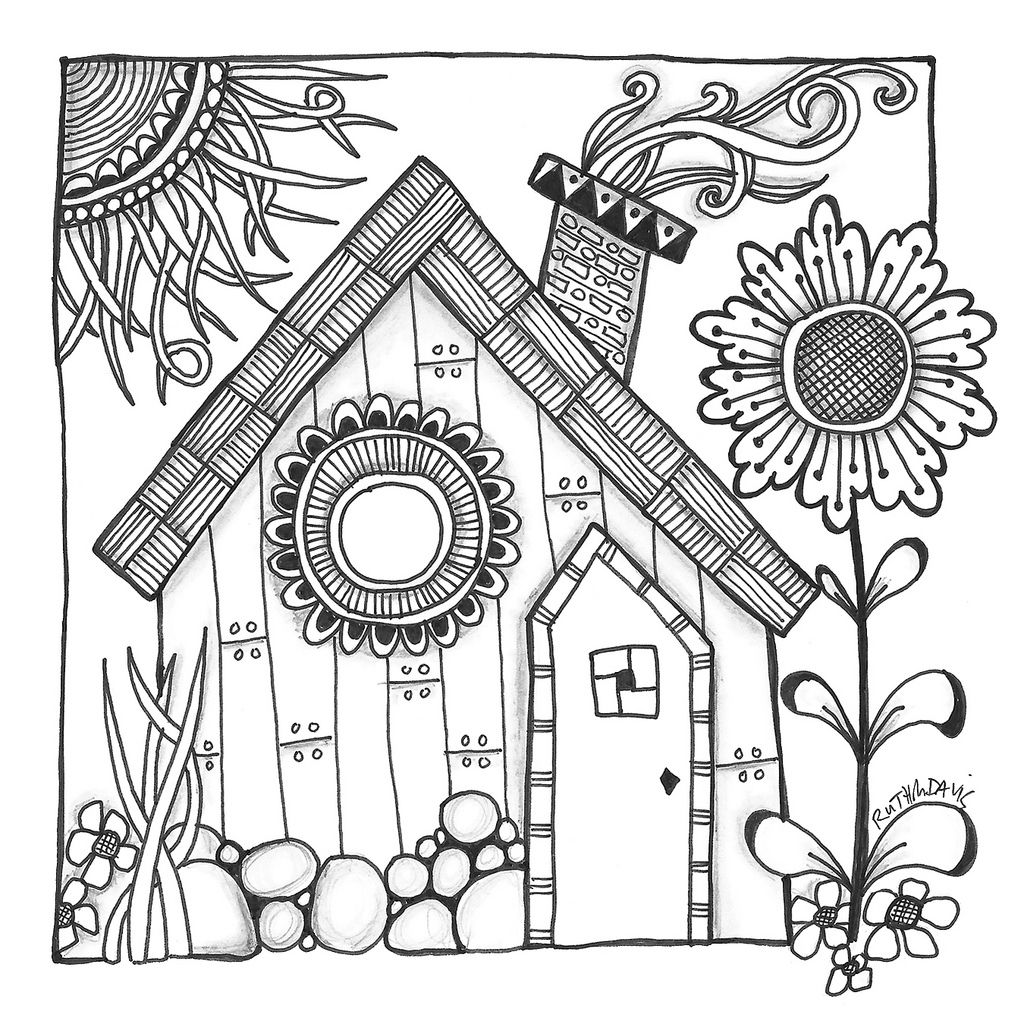 1024x1024 Harry's Cottage Coloring Pages Anti Stress, Craft