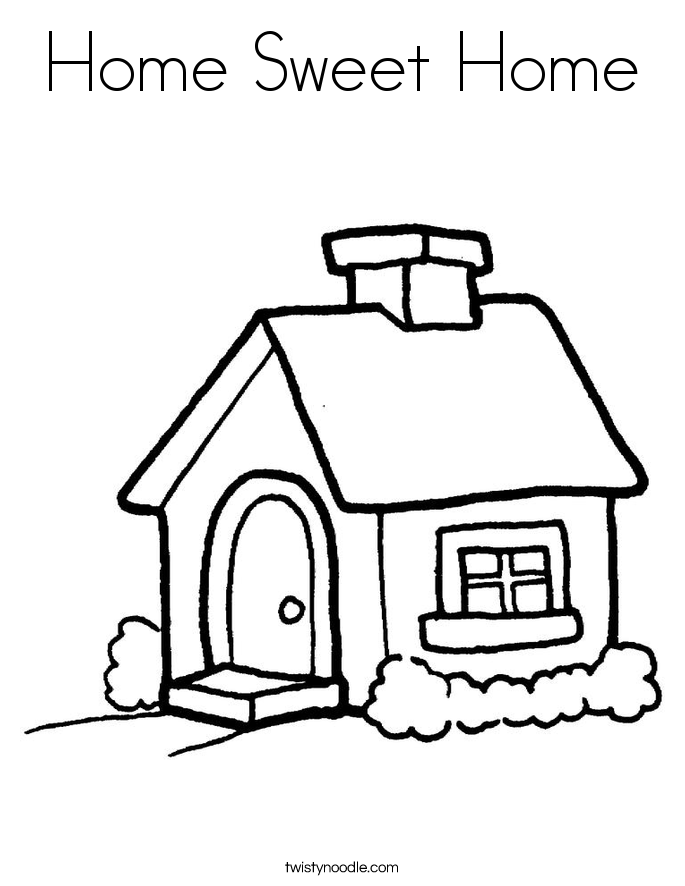 685x886 Home Sweet Home Coloring Page