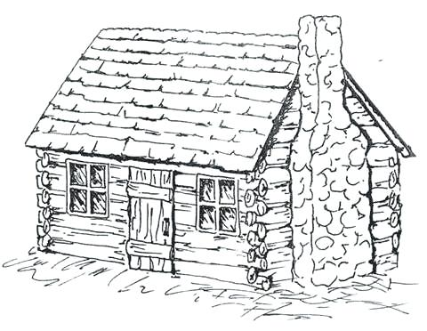 480x372 Log Cabin Coloring Page Coloring Pages Log Cabins Top Cabin Free