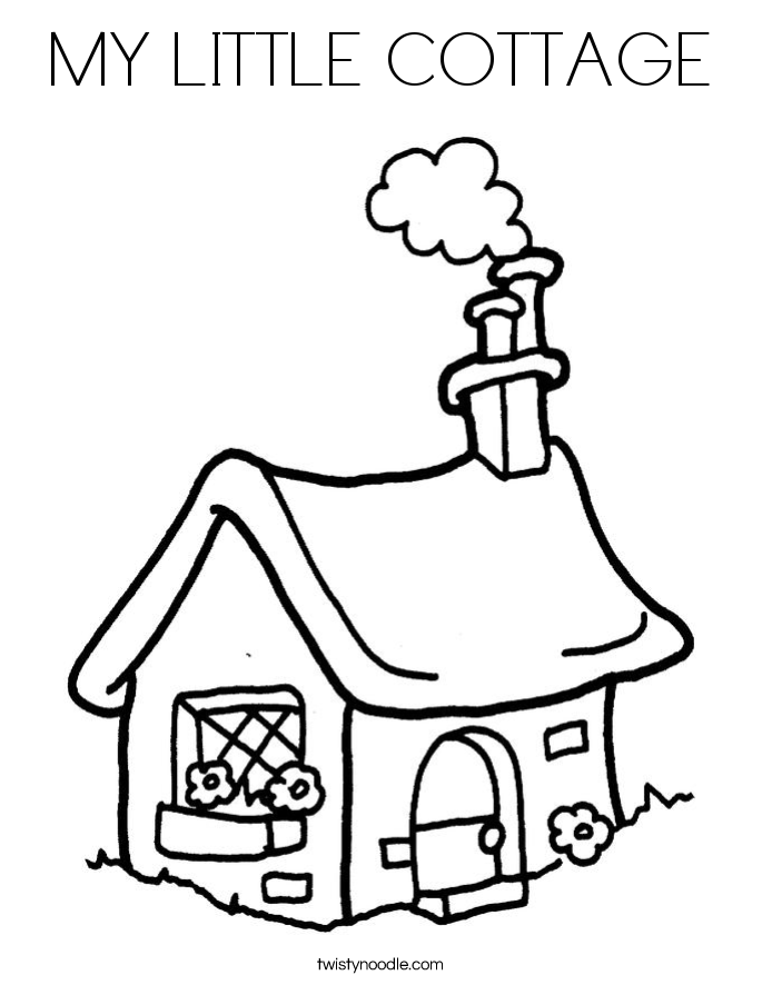 685x886 My Little Cottage Coloring Page